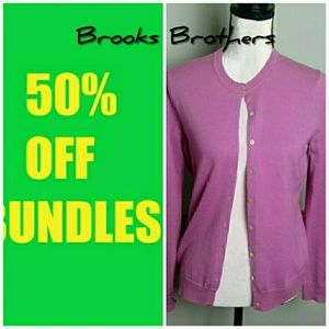 Brooks Brothers medium wool cardigan sweater